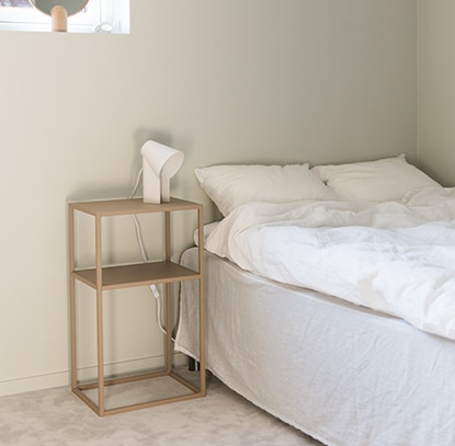 Design of storage bedside